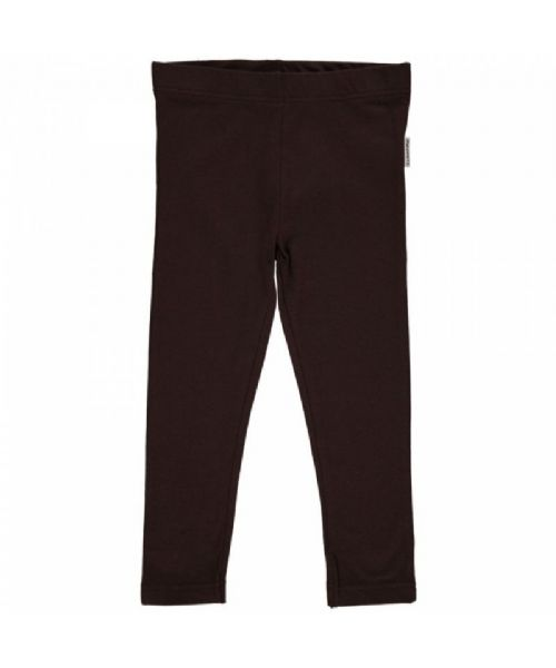 Maxomorra Leggings Velour Basic Dark Brown (80, 86)